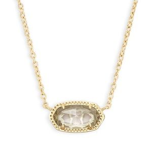 Kendra Scott Elisa Necklace In Clear Crystal